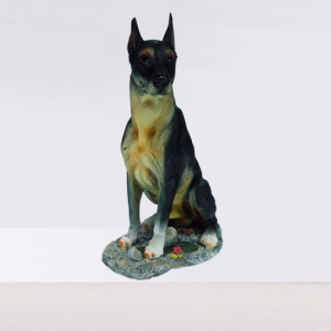 Small Dorberman Dog Statue