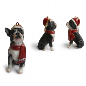 Boston Terrier  Christmas Tree Ornaments