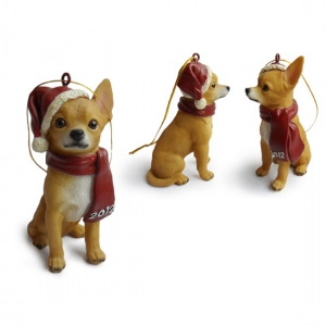 Chihuahua Christmas Tree Ornaments