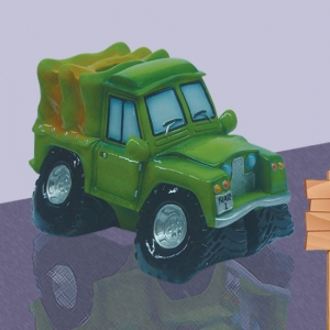 Green Jeep Saving Bank