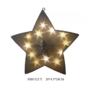 Iron big star solar light