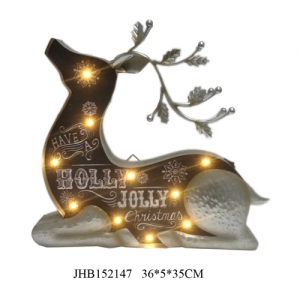 Iron dear led christmas lights