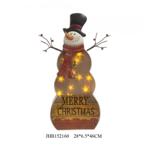 Iron merry christmas snowman