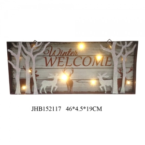 Joy christmas iron Wall Decoration plaque