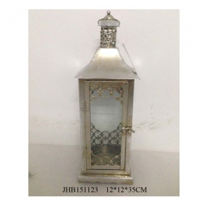 decoration silver tea light lanterns
