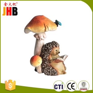 garden animals Hedgehog Mushroom Statue